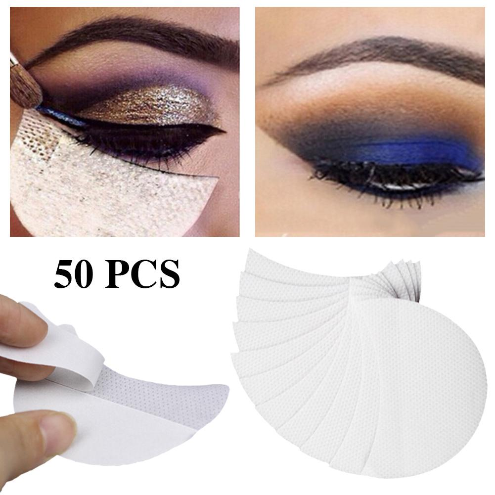 1/50pcs/set Disposable Eyeliner Shield For Eye Shadow Protector Pads Eyes Lips Lint Free Patch Makeup Eyelash Isolation Stickers