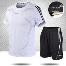 Fußball Trikots für Männer Fußball Jersey Trainingsanzug Kurzarm Fußball Training Anzug Sommer T Shirt + Shorts Sport 2 Stück set
