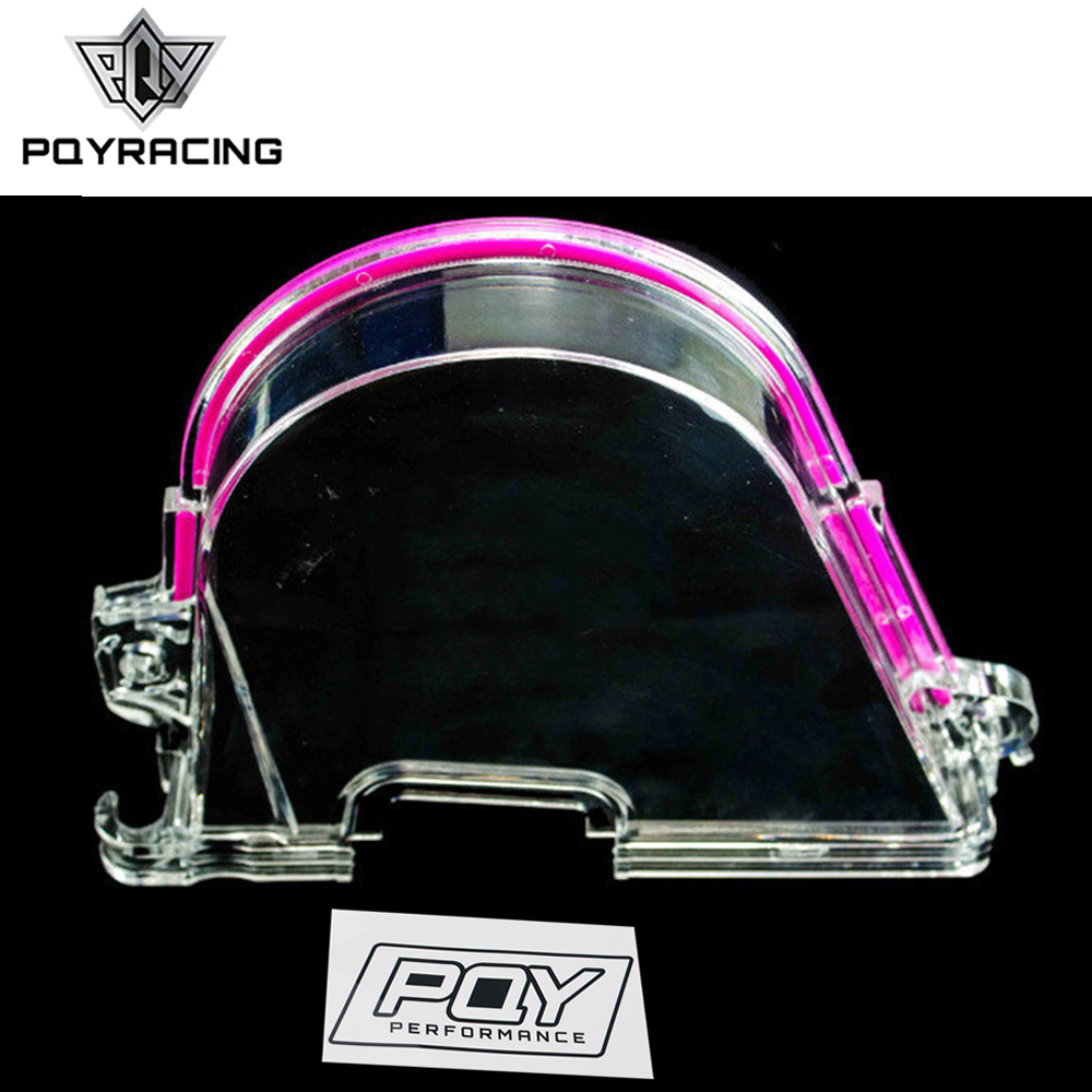 Clear Cam Gear Cover Timing Belt Cover Turbo Cam Pulley For Honda 96-00 EK With PQY Sticker PQY6337