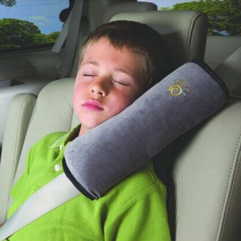 1Pc Soft Car Seat Belt Neck Pillow Padding for Kids Children Plush Cushion Vehicle Shoulder Pad Headrest Auto Safety Protection image