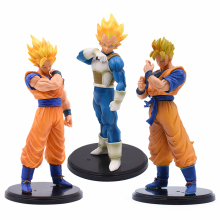 3pcs/Set Dragon Ball Z Son Goku Gohan Vegeta Action Figure PVC Model Toy Anime Resolution of Soldiers goku Figure Toys For Kids