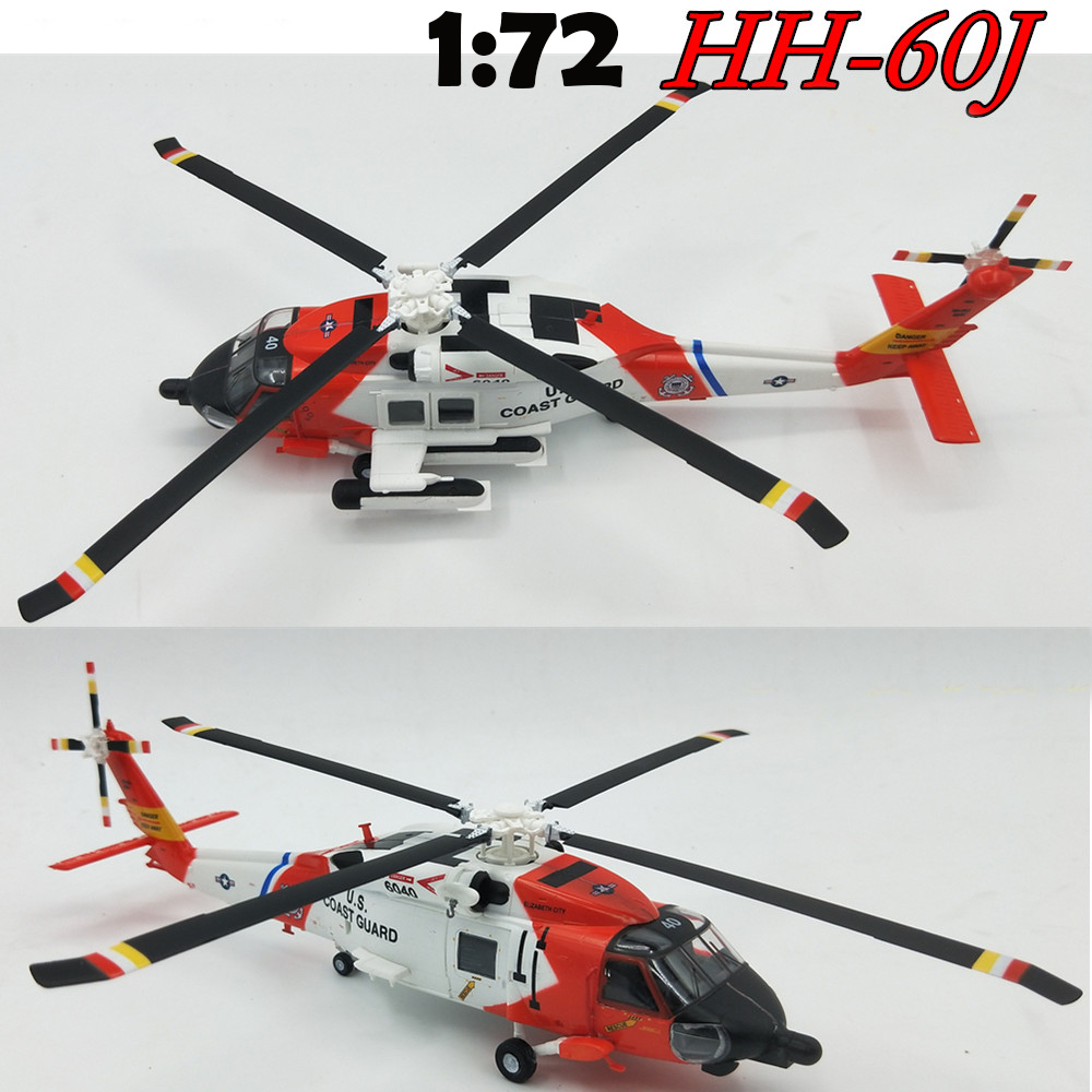 1:72  Hh-60j Rescue Helicopter Model In The United States  Indian Squadron  Small Hand Products 36925