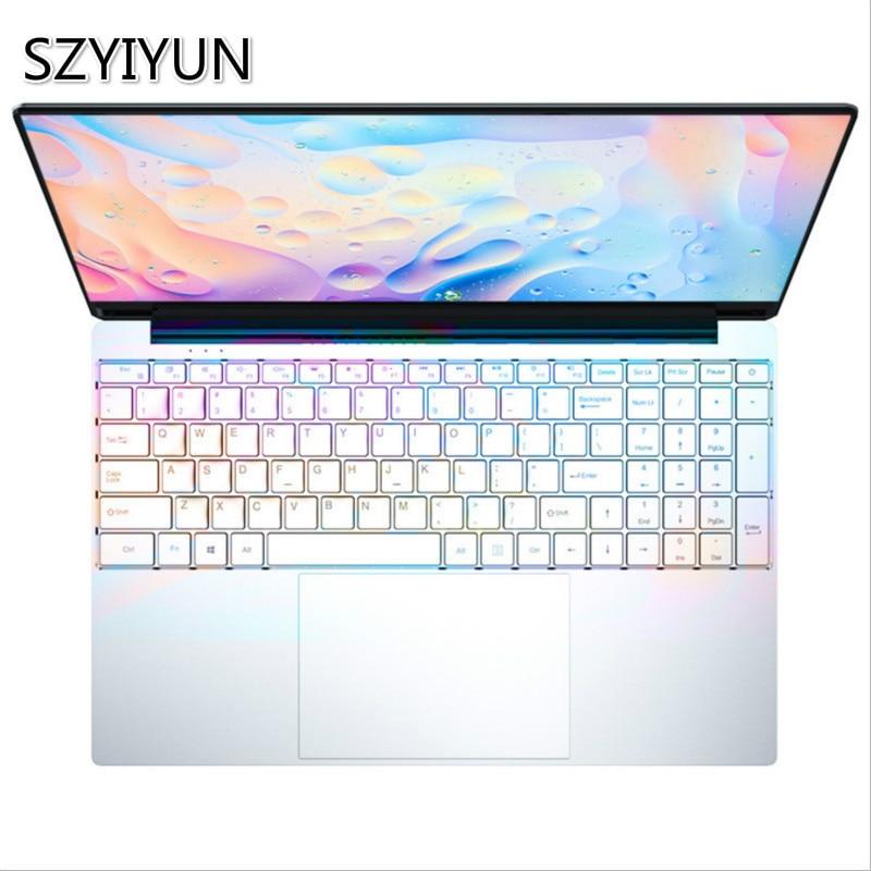 Core i3 ультратонкий ноутбук Intel 15,6 дюйма 8 Гб RAM 64/128/256/512/ТБ SSD игровой ноутбук 1920*1080P ПК компьютер офисный нетбук