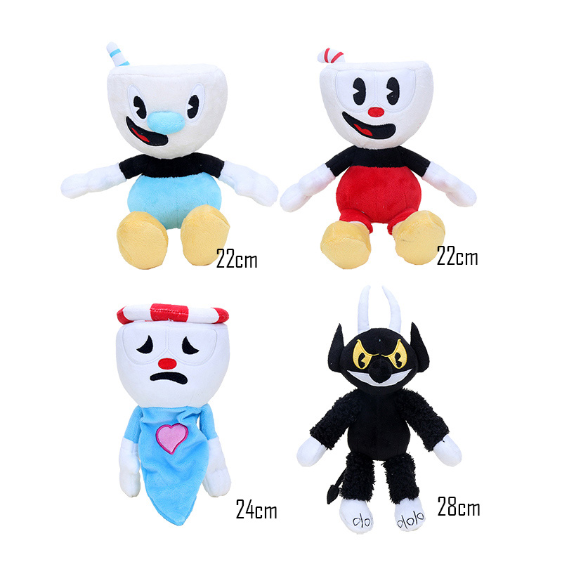 Adventure Cuphead Game Soft Doll Toy Mugman Mecup Brocup Kids Gift Legendary