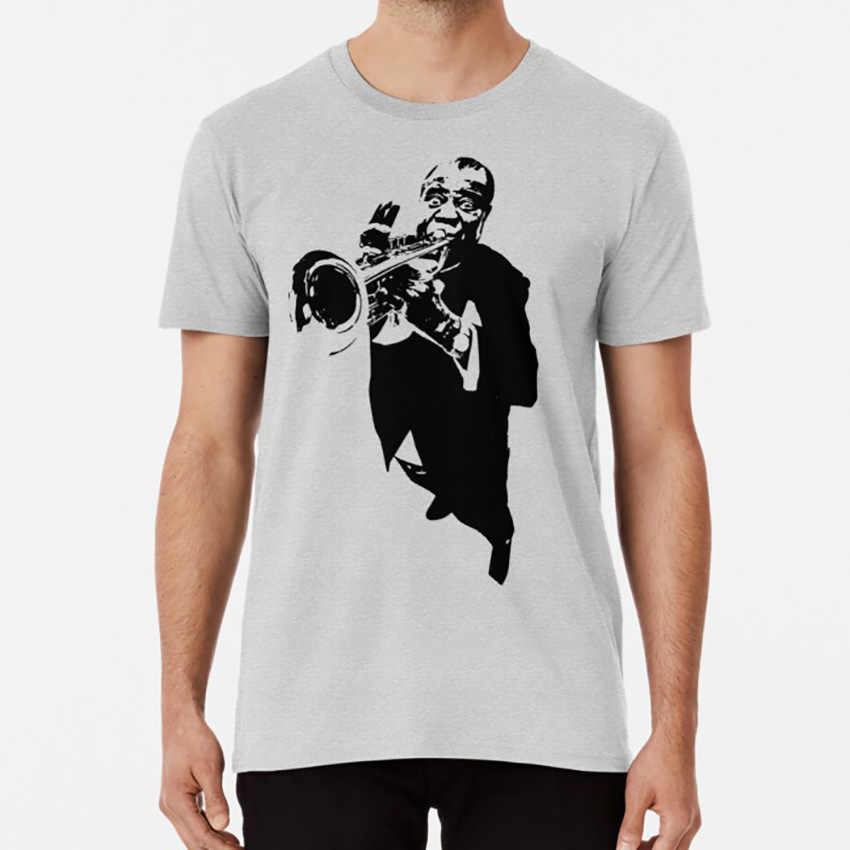 Louis Armstrong T shirt T shirt ralphyboy satchmo jazz blues trumpet cornet vector musical graphic design
