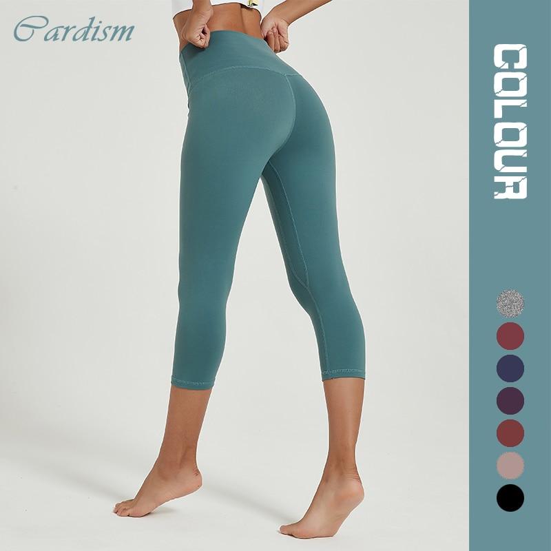 Cardism Women's Yoga Pants High Waist Sports Leggings  For Fitness Clothing Push Up Calf-Length Running Sweatpants Women Pants 1