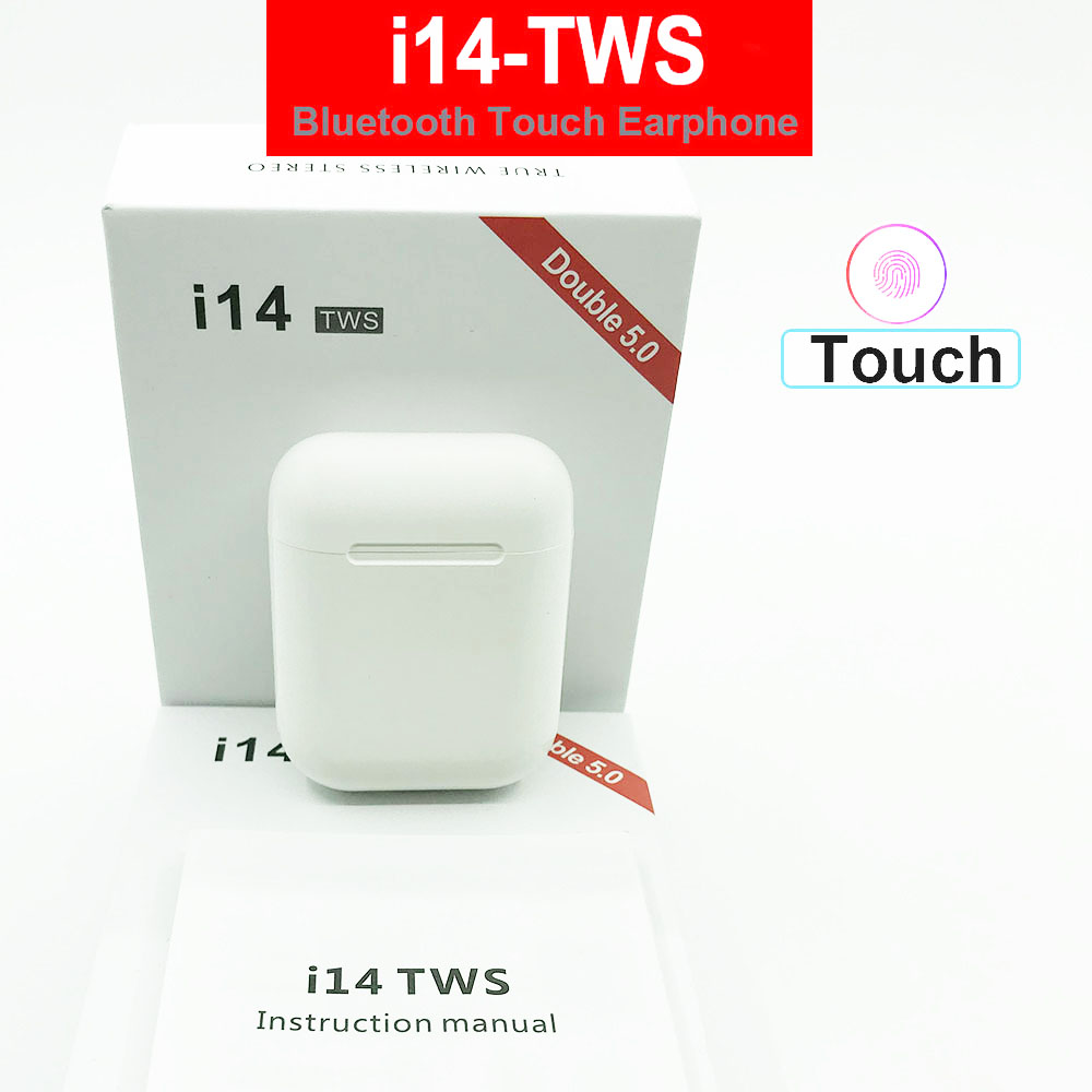 <font><b>2019</b></font> i14 <font><b>tws</b></font> Wireless Bluetooth 5.0 Earphone Touch control mini Earbuds with charging box PK i120 i30 i12 i20 i60 <font><b>tws</b></font> for Phone image