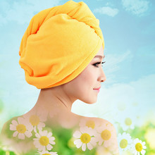 Thick dry hair shower cap microfiber girl shower towel quick-drying super absorb