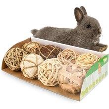 Маленькие животные, игровой мяч, кролик, хомяк, травяной мяч, натуральные маленькие животные, игрушки для жевания, кролики, птица, попугай, иг...