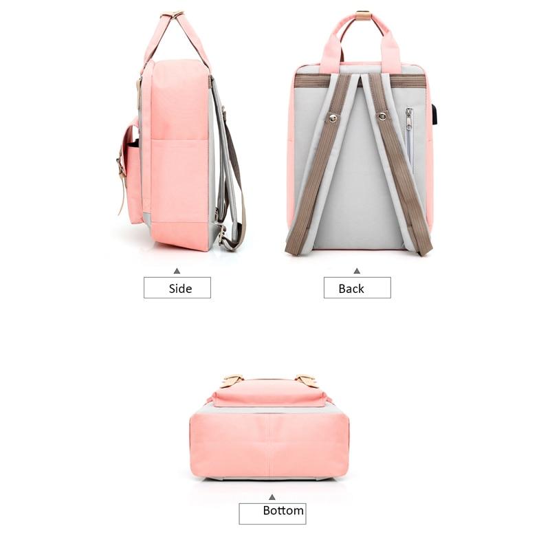 Fashion Patchwork Women Backpack Waterproof Backpack Bags For Women Travel Backpacks Teenagers Girls Large Capacity Bagpack