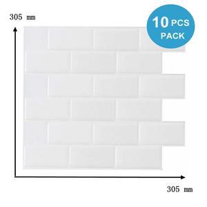 Vividtiles Peel Stick Wallpaper 3d Subway Tiles-10-Sheet Heatproof Self-Adhesive Vinyl
