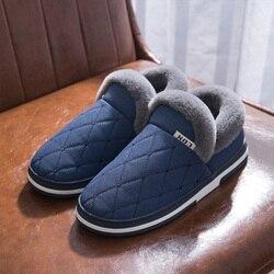 Inverno Chinelos Quentes Homens Camurça Gingham Curto Pelúcia Sapatos Fechados para o Sexo Masculino Slip-on Veludo Aconchegante Casa de Pele À Prova D' Água chinelos Amante