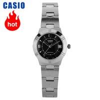 Casio ponteiro série relógio de quartzo simples e pequeno LTP 1241D 1A|Relógios femininos| |  -