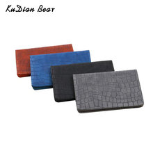 KUDIAN BEAR Men Passport Cover Wallets Leather Fashion Male Credit Card Holder Coin Purse Case Casual Bag BIH227 PM49(China)