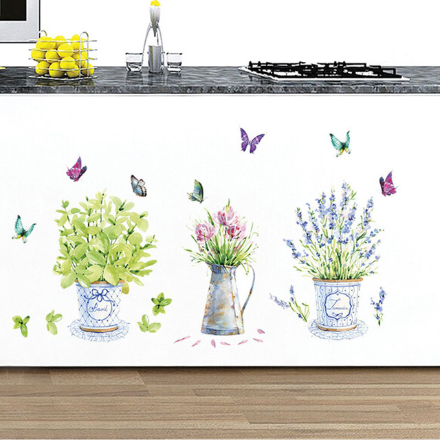 Bonsai Wall Stickers 3pcs Pot Plants