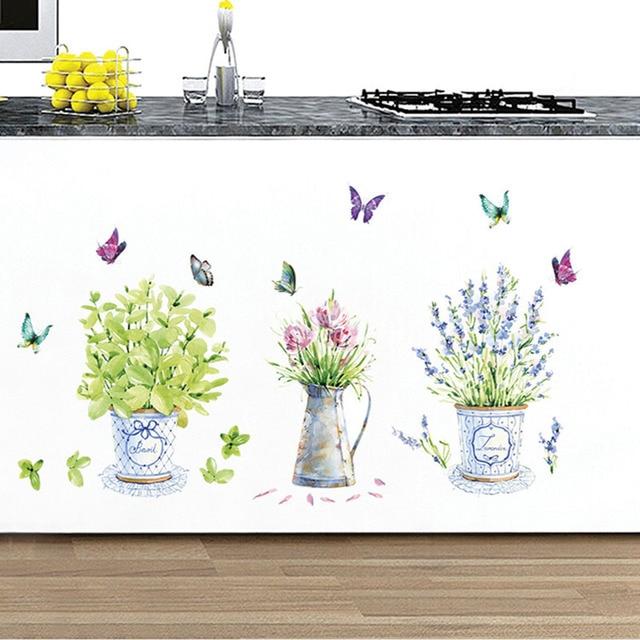 Bonsai Wall Stickers 3pcs Pot Plants
