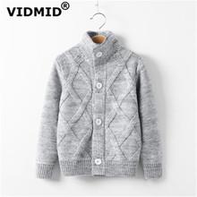 VIDMID jesienno-zimowa dla dzieci boys baby cardigan płaszcz chłopcy swetry bawełniana kurtka dla chłopców swetry odzież dziecięca 7088 01 tanie tanio COTTON Na co dzień Stałe REGULAR MANDARIN COLLAR 3T-4T-5T-6T-8T Pełna Draped Pasuje prawda na wymiar weź swój normalny rozmiar