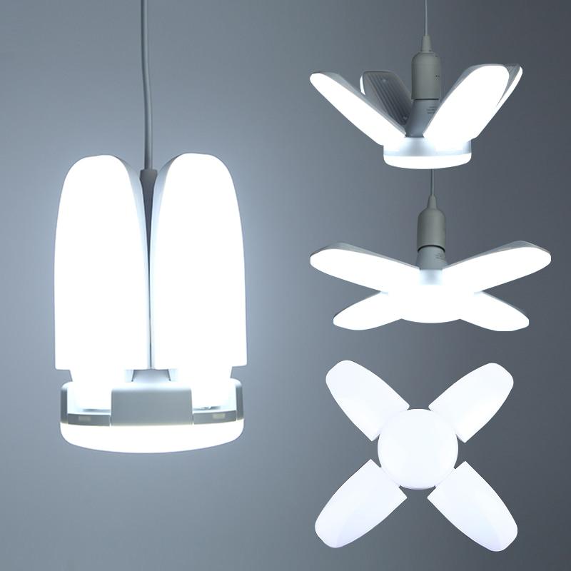 LED Bulb E27 220V No Flicker Foldable Fan Blade LED Lamps 30W/45W/60W Lampada LED Ceiling Lights For Living Room Garage Lighting