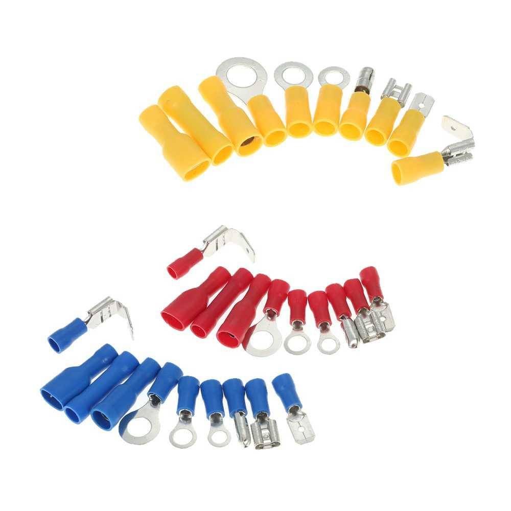 480 Pe Insulation Cable Lugs With Box, Electrical Male Female Wire Cable Connector Fittings Kit Terminals Clamp Blade Sockets Sp