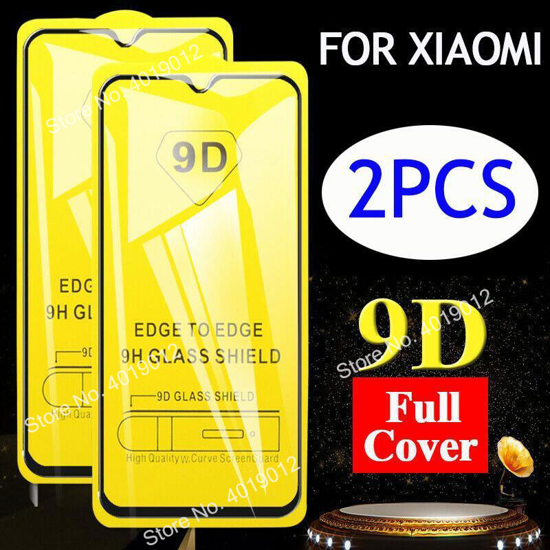 2pcs/lot 9D Curved Full Protective Glass Film Redmi 8 7 7A 6 6A Note 8 Pro Protector For Xiaomi Mi 8 9 SE A2 Lite Tempered Glass(China)