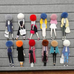 Brooch-Pins Models Girls Cartoon Fashion Kawaii Jewelry-Accessories Clothing 12pcs Acrylic