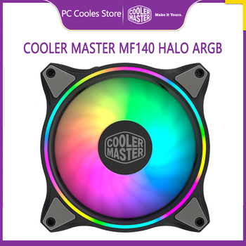 Cooler Master MF140 HALO Case fan 140mm Addressable 5V/3PIN ARGB CPU Cooling Fan PWM quiet image