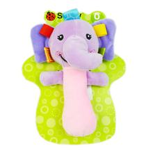 Baby Multi-function Baby Animal Rattle Hand Rocker Bb Stick Toy Child Comfort Toy Children's Early Education Toys(China)
