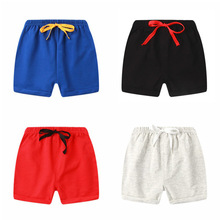 цены Boys Shorts Summer Cotton Thin Five-point Pants Children Baby Shorts Solid Color Boys And Girls Outdoor Beach Pants Casual Pants
