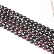 Garnet Natural Stone Beads For Jewelry Making Diy Bracelet Necklace 4/6/8/10/12 mm Wholesale Strand