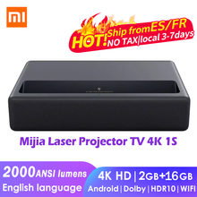 Xiaomi Mijia Laser Projector TV 4K 1S 2000ANSI Lumens 150Inch 2GB+16GB Android WIFI HDR10 Dobby Audio DTS home theater beamer