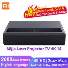 Xiaomi mijia projetor a laser tv 4k 1s 2000ansi lumens 150 Polegada 2gb + 16gb android wifi hdr10 dobby áudio dts beamer de teatro em casa