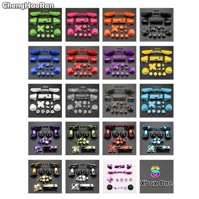ChengHaoRan tam Set katı RB LB tampon RT LT tetik düğmeler Mod seti için Microsoft Xbox One S Slim denetleyici Analog sopa Dpad