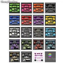 Chenghaoran conjunto completo sólido rb lb amortecedor rt lt gatilho botões mod kit para microsoft xbox um s fino controlador analógico vara dpad