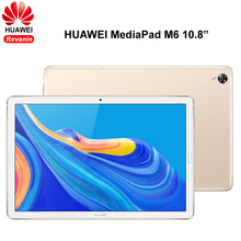 10.8 inç HUAWEI MediaPad M6 Kirin 980 Octa çekirdek Android 9.0 4G LTE telefon görüşmesi Tablet 7500mAh 2560x1600 parmak izi IPS ekran