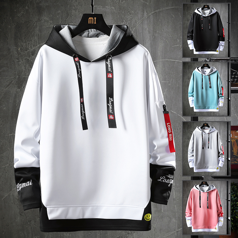 Fashion Brand Men's Hoodies Male Casual Hoodies Sweatshirts Men's Solid Color Hoodies Sweatshirt Tops WY7040