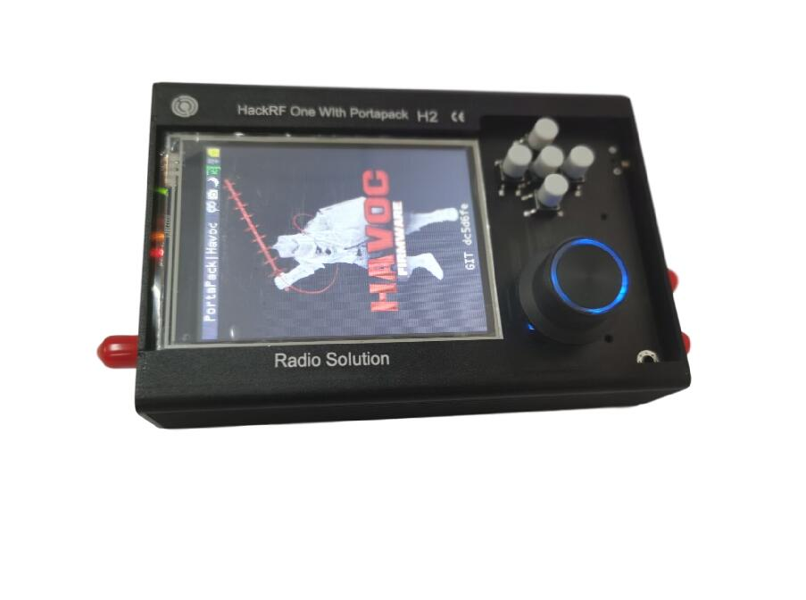 2020 PORTAPACK H2 + HACKRF ONE SDR Radio + Havoc Firmware + 0.5ppm TCXO GPS + 3.2 Inch Touch LCD + 1500mAh Battery + Metal Case