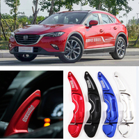 2pcs Steering Wheel Aluminum Shift Paddle Shifter Extension For Mazda CX-4 2016-2018 Car-styling