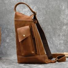 MAHEU 2020 New Design Genuine Leather Chest Bag Single Shoulder Sling B