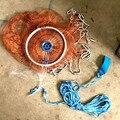Narr Net Casting Amerikanischen Stil Seine Fishnet Fangen Fishnet Hand Net Cast Net Fishnet Net Spin Angeln Getriebe Reifen-in Scheinwerfer aus Licht & Beleuchtung bei