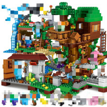 18style Minecrafted My World Bricks Aminal Mine Farm Cave Village Jungle TreeHouse Figures City Manor Model Building Blocks Toys