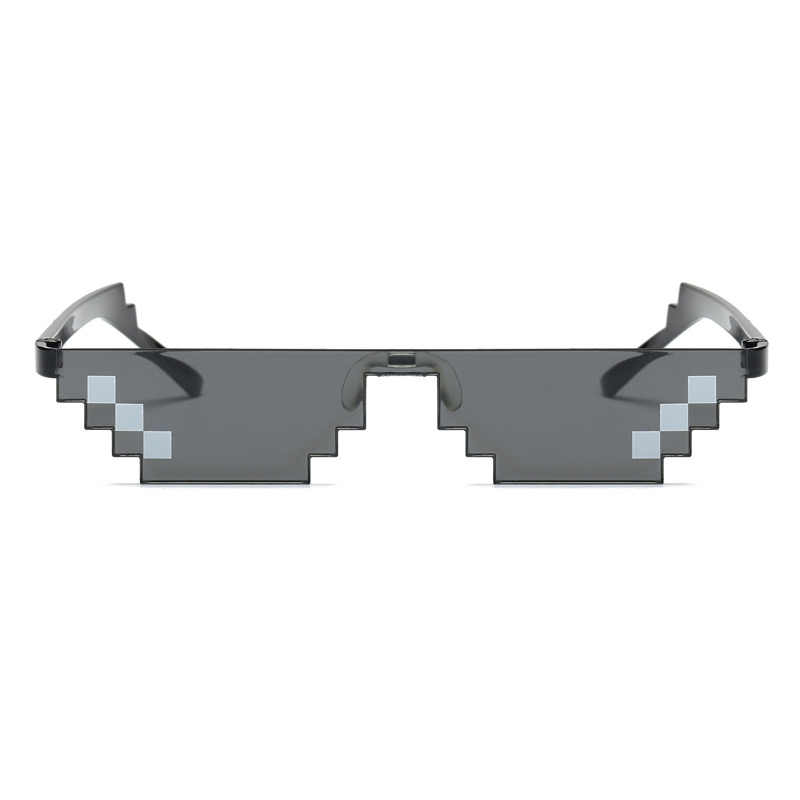 البلطجة الحياة صفقة معها النظارات الشمسية الرجال النساء الساخن بيع نظارات شمسية أوليغونال 8 بت نمط بكسل مع مخدة أنف للنظارة مكبرة