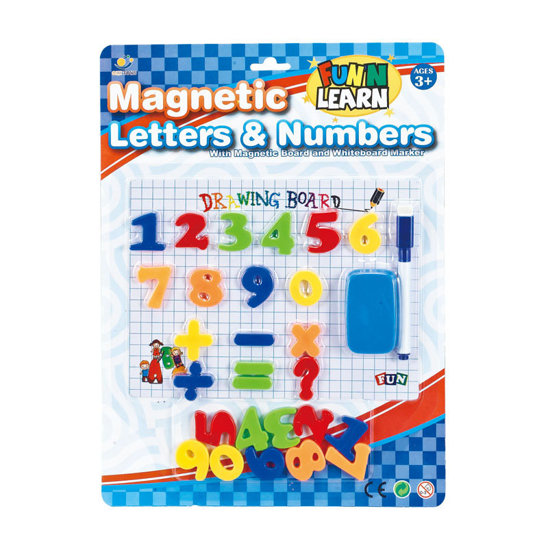 Children Magnetic Lettered Writing Board Educational Early Childhood Supplies Educational Toy Magnetic Lettered With Numbers Whi