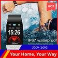 T1S смарт-браслет в режиме реального времени контроль температуры тела браслет IP67 водонепроницаемые фитнес-часы мужские фитнес-часы T1S Смарт...