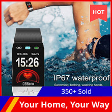 T1s relógio inteligente monitor de freqüência cardíaca temperatura do corpo fitness relógio ecg controle de música esporte fitness smartwatch masculino feminino 2020 novo