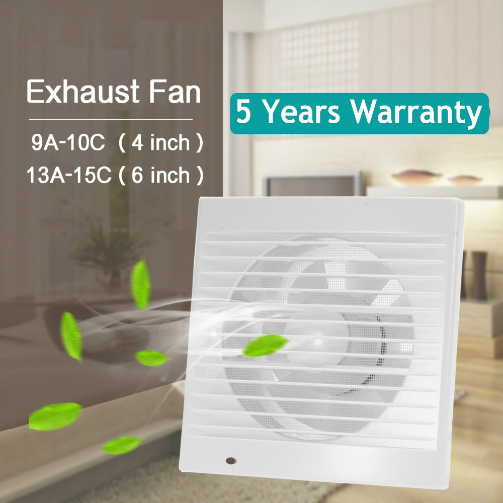 Ventilation Exhaust Fan For Hotel Glass Windows Wall Kitchen Bathroom 220 Volts