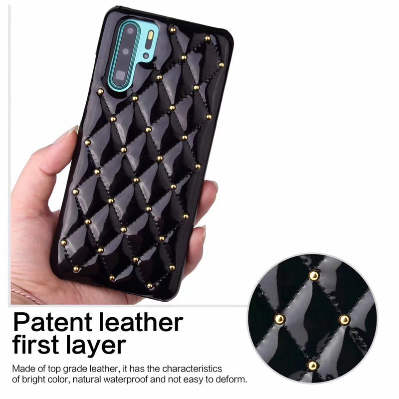 GT Leather Luxury Small Fragrant Case For Huawei Mate20 20Pro P30 P30Pro P20 P20Pro With Rivets Phone Shell Cover Fundas in Fitted Cases from Cellphones Telecommunications