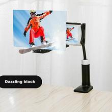12 дюймовый мобильный телефон Экран усилитель ленивый зажим увеличительное Стекло Настольный автомобильный кровать проекции видео Кронштейн