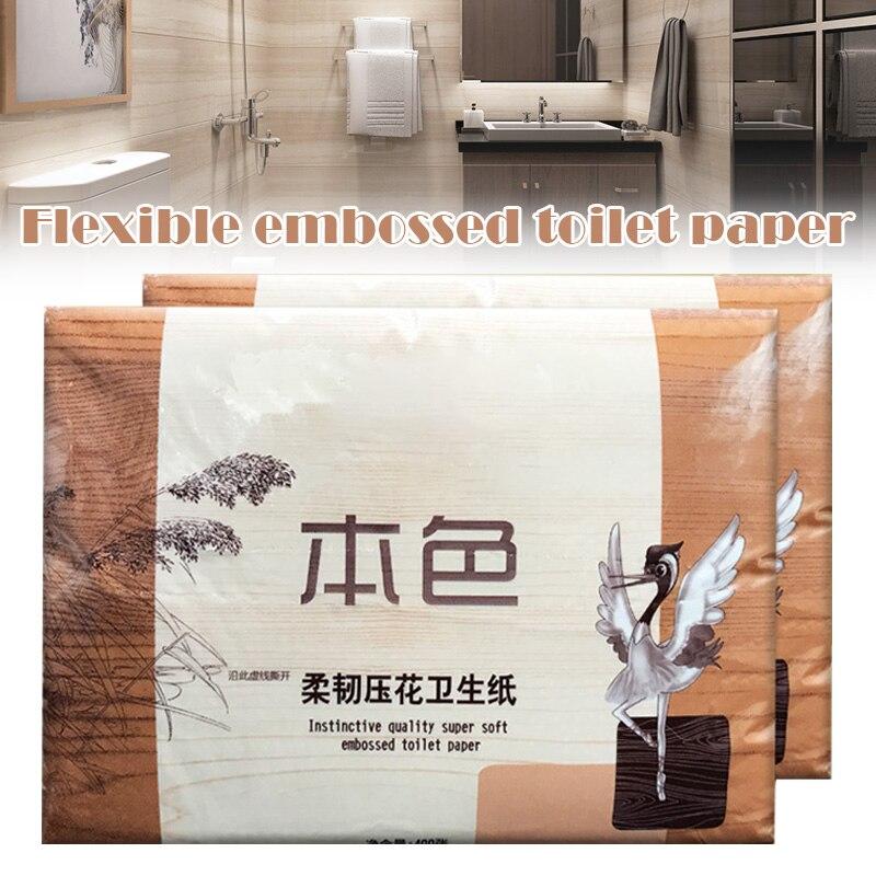 Large Toilet Paper Tissue Household Bathroom Soft Safe Home Paper Towel H9