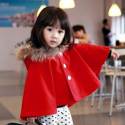 New winter parent-child outfit child han edition thickening coat baby cashmere shawl cloak