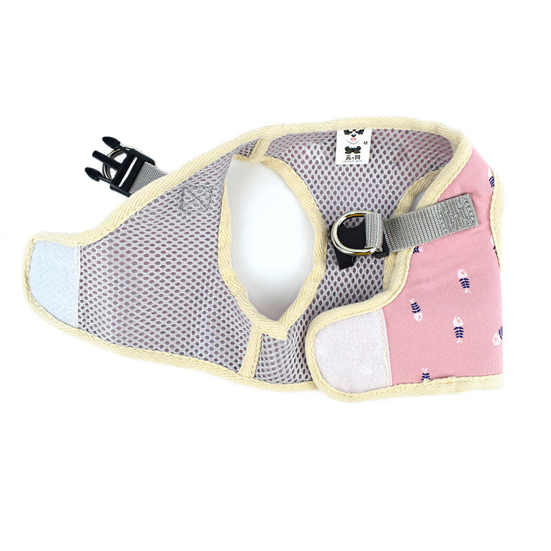 New Style Dog Cat Hand Holding Rope Chest And Back With Pet Square Chest And Back Teddy Vest Style Traction Belt